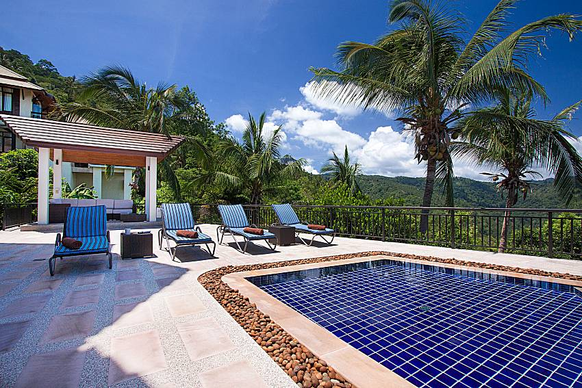 Sun bed near swimming pool Phukea Villa in Koh Samui