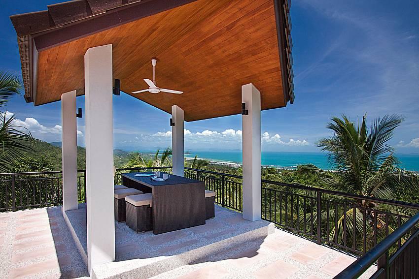 Pavilion and sea view Phukea Villa in Koh Samui