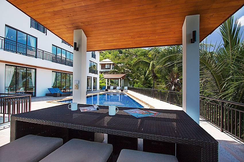 Seat and table Phukea Villa in Koh Samui