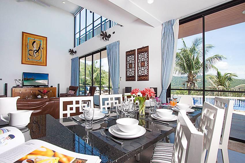 Dinning area Phukea Villa in Koh Samui