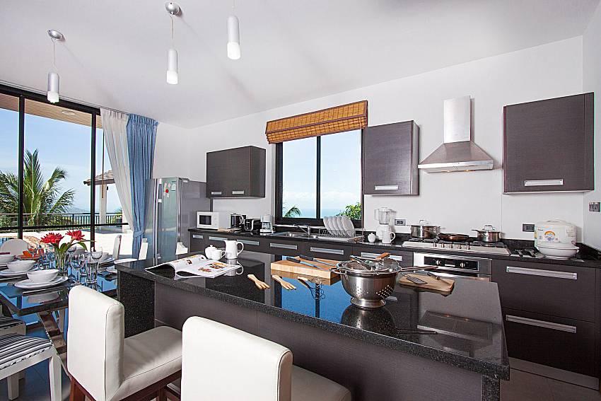 Kitchen Phukea Villa in Koh Samui
