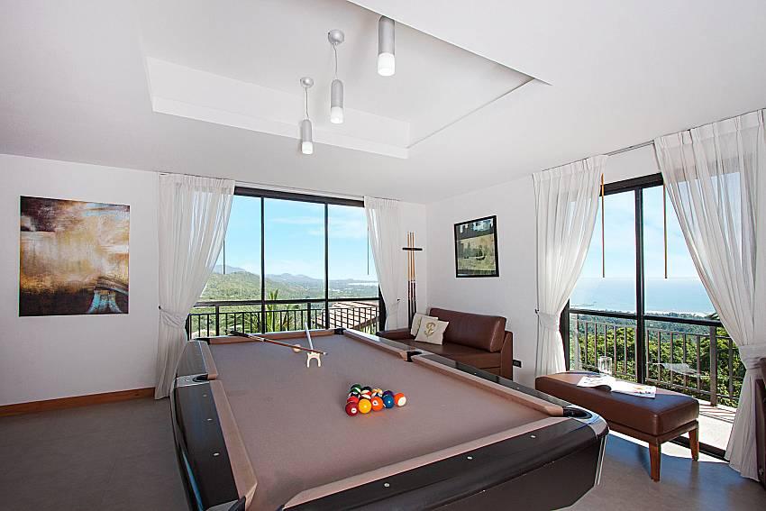 Pool table Phukea Villa in Koh Samui