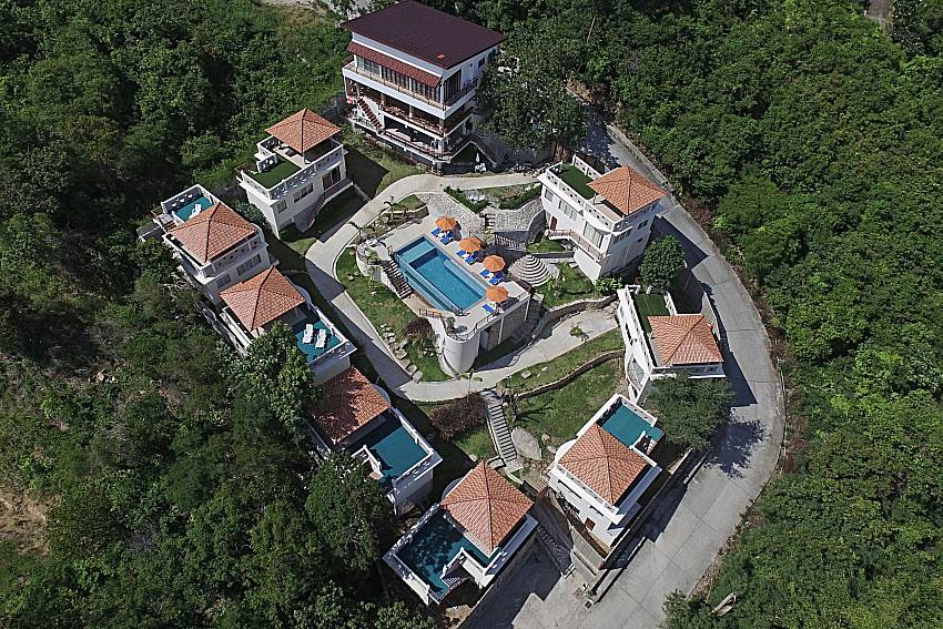 Top view of property Villa Mak Di 102 in Samui