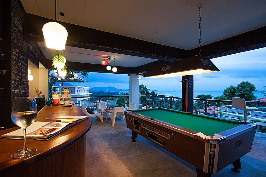 Pool table Villa Mak Di 102 in Samui