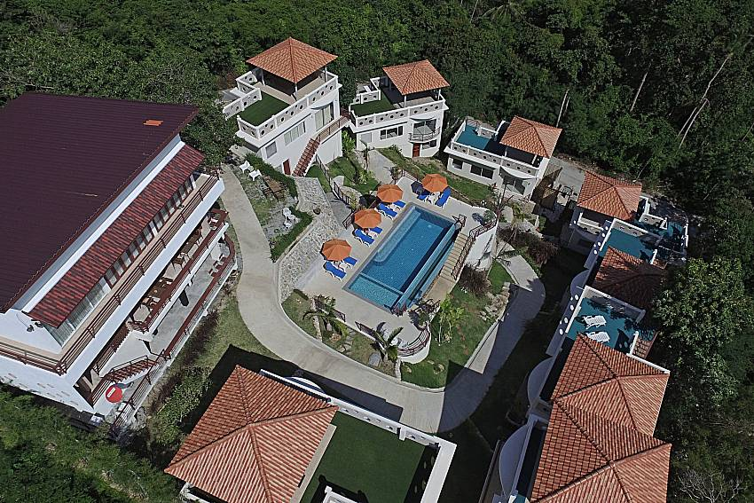 Top view of property Villa Mak Di 103 in Samui