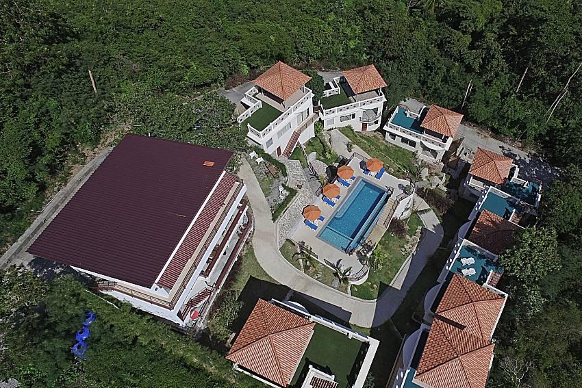 Top view of property Villa Mak Di 104 in Samui