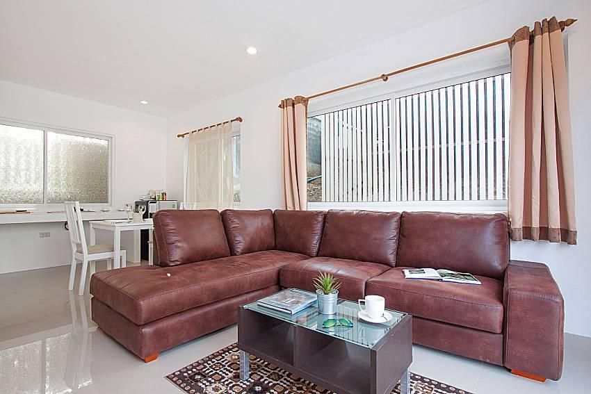 Living room Villa Mak Di 104 in Samui