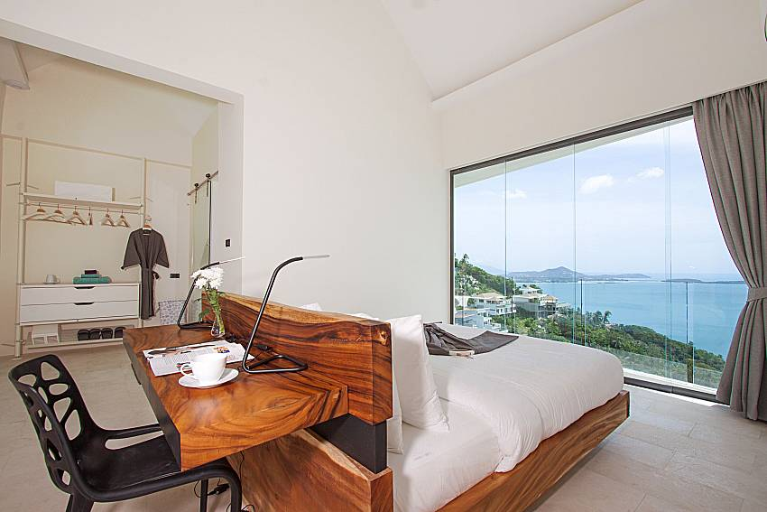 Bedroom with sea view Sky Dream Villa in Samui