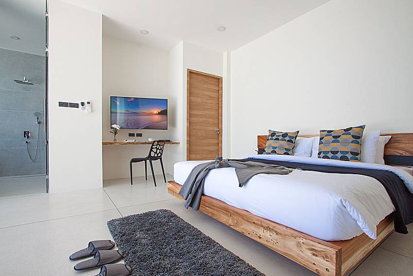 Bedroom with TV Sky Dream Villa in Samui