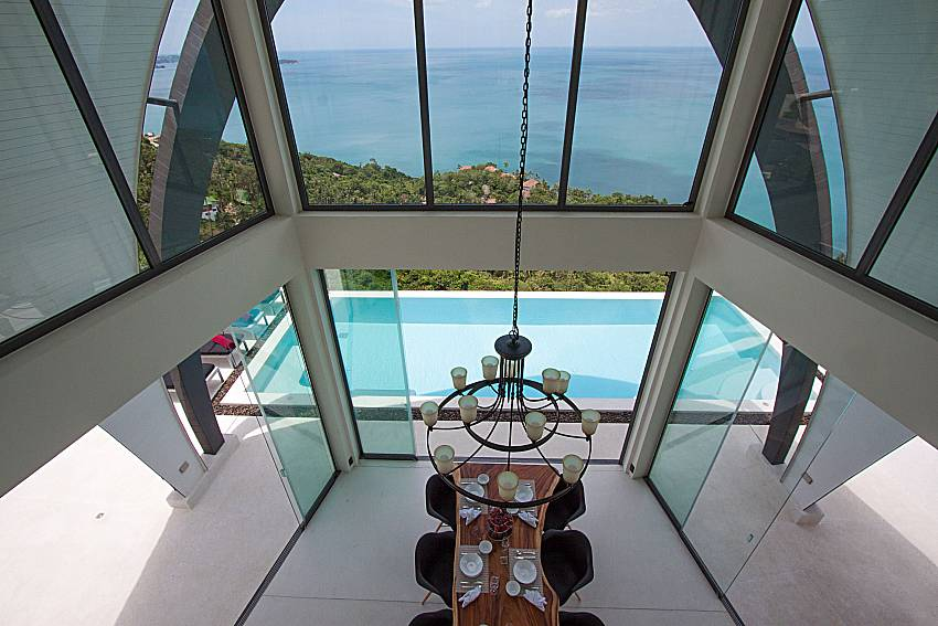 Dinning area with sea view Sky Dream Villa in Samui