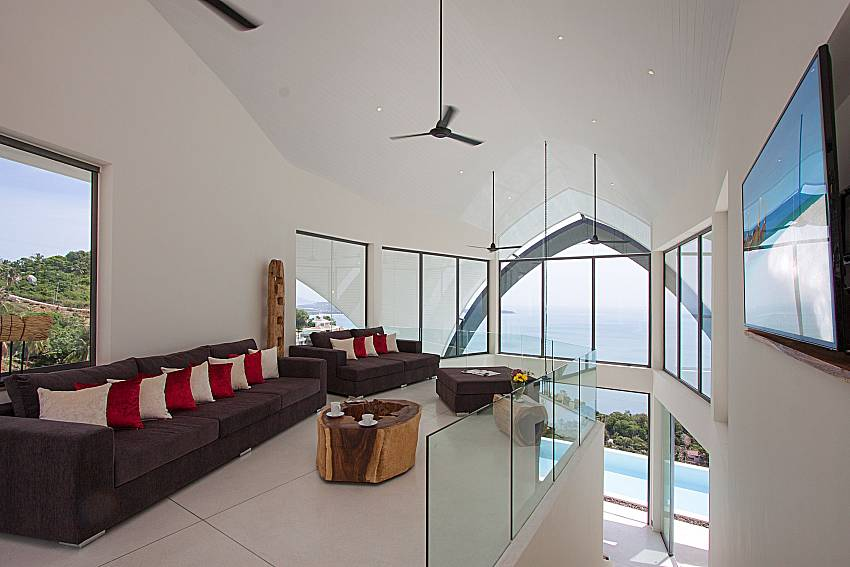 Living room with TV Sky Dream Villa in Samui