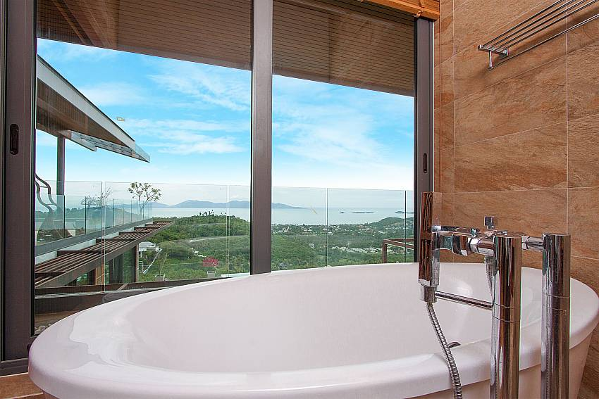 sea view from the bath tube-Villa High Rise_Bophut_Samui_Thailand
