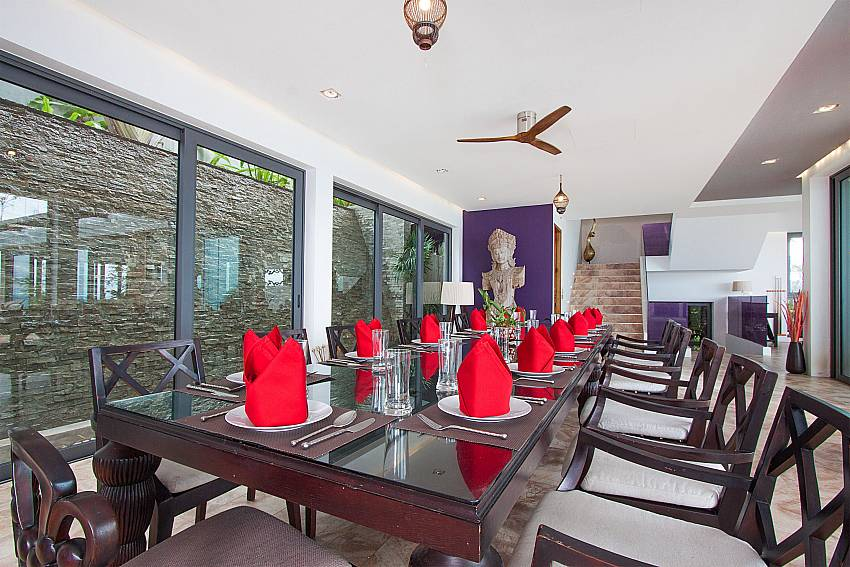 dining table for 14 persons-Villa High Rise_Bophut_Samui_Thailand