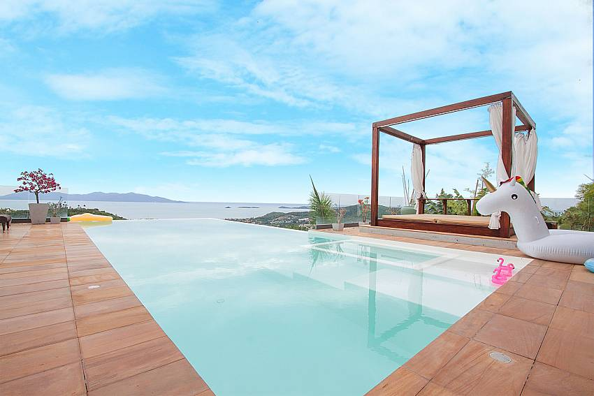 Infinity Pool with sea view-Villa High Rise_Bop Hut_Koh Samui_Thailand