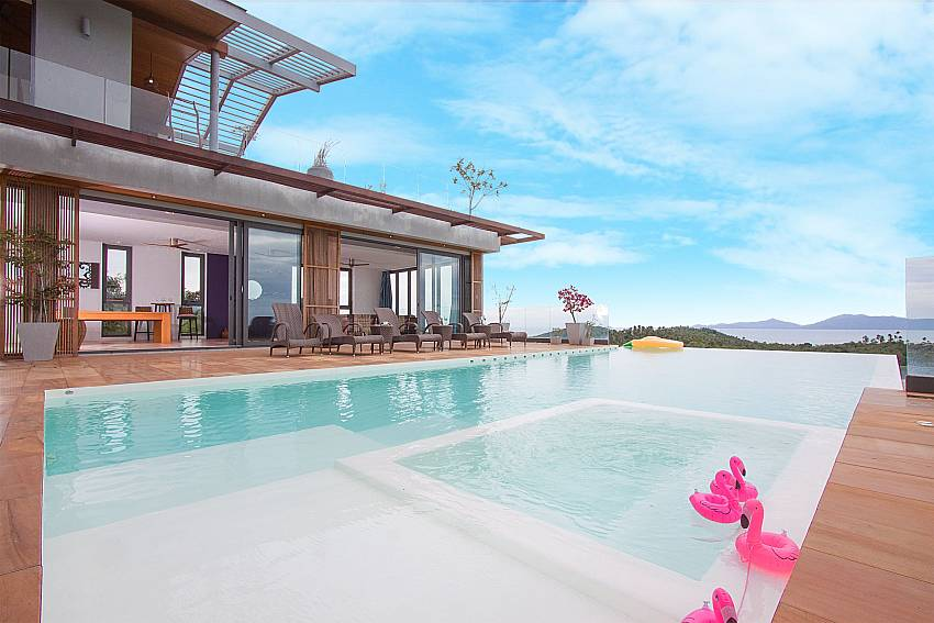 Pool with Sea View at-Villa High Rise_Bophut_Samui_Thailand