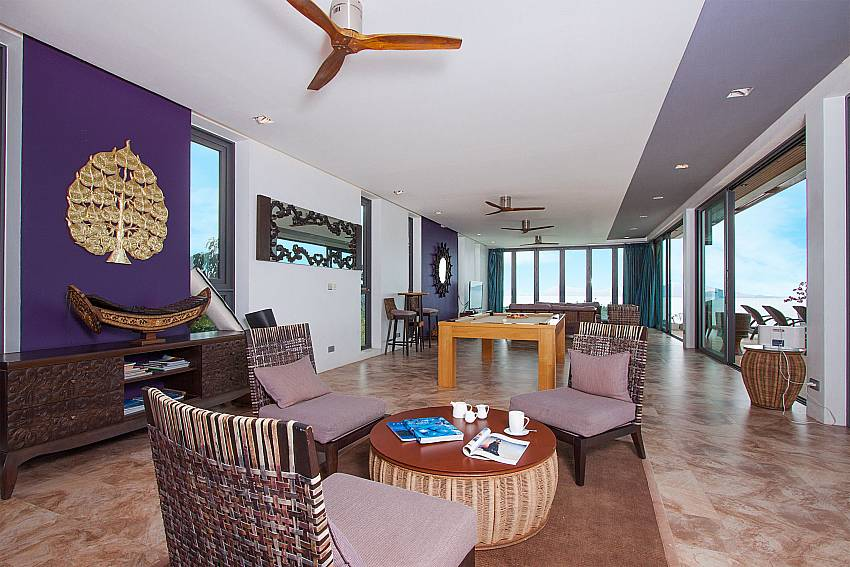 Great living indoor living area with view-Villa High Rise_Bophut_Samui_Thailand