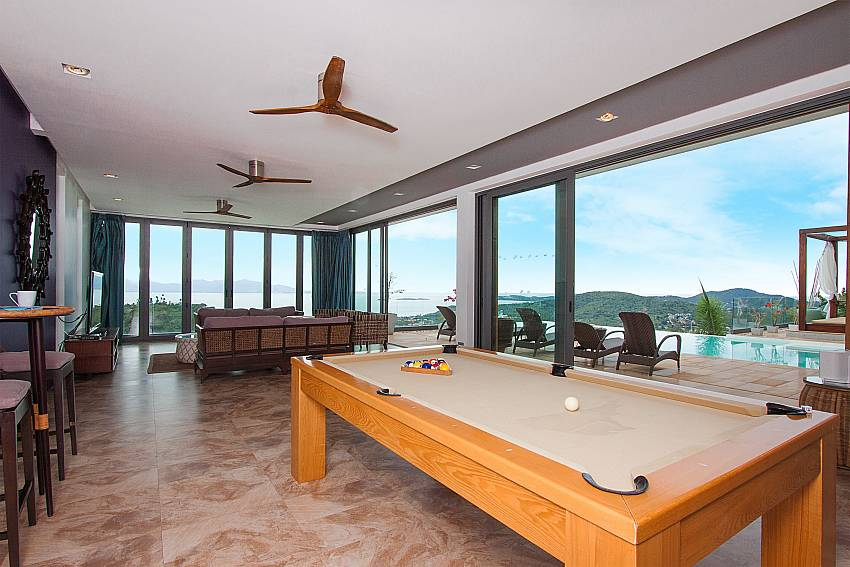Pool table in the living room-Villa High Rise_Bophut_Samui_Thailand