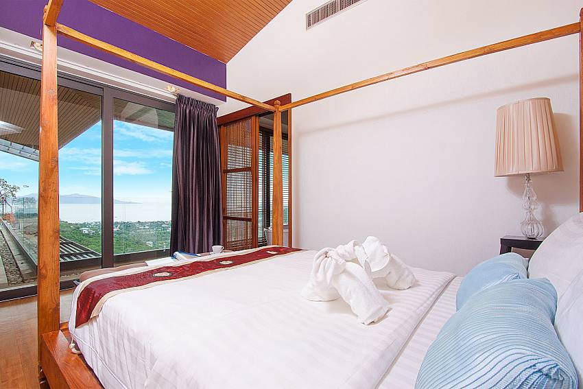 2. king size bedroom with sea view-Villa High Rise_Bophut_Samui_Thailand
