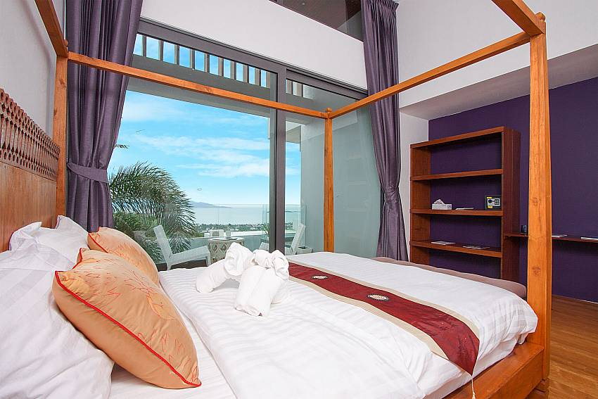 5. double bedroom with sea view-Villa High Rise_Bophut_Samui_Thailand