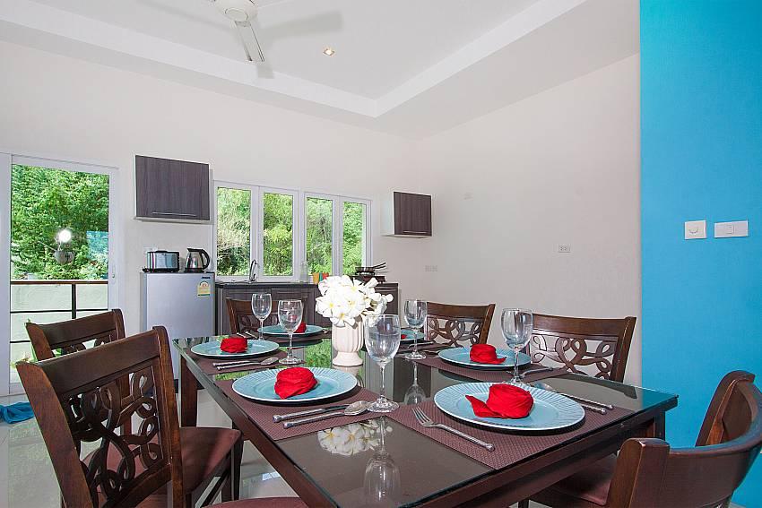 Dinning area Villa Janani 302 in Samui