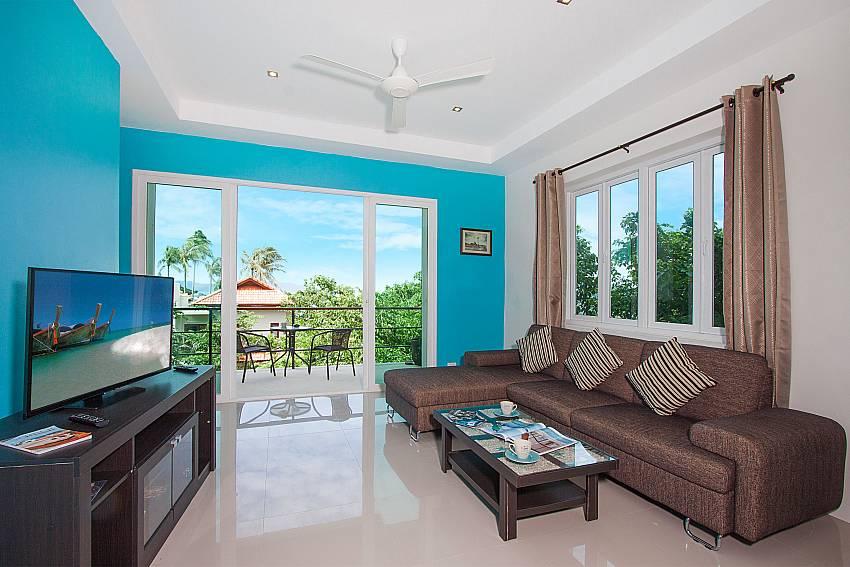 Living room with TV Villa Janani 304 in Samui
