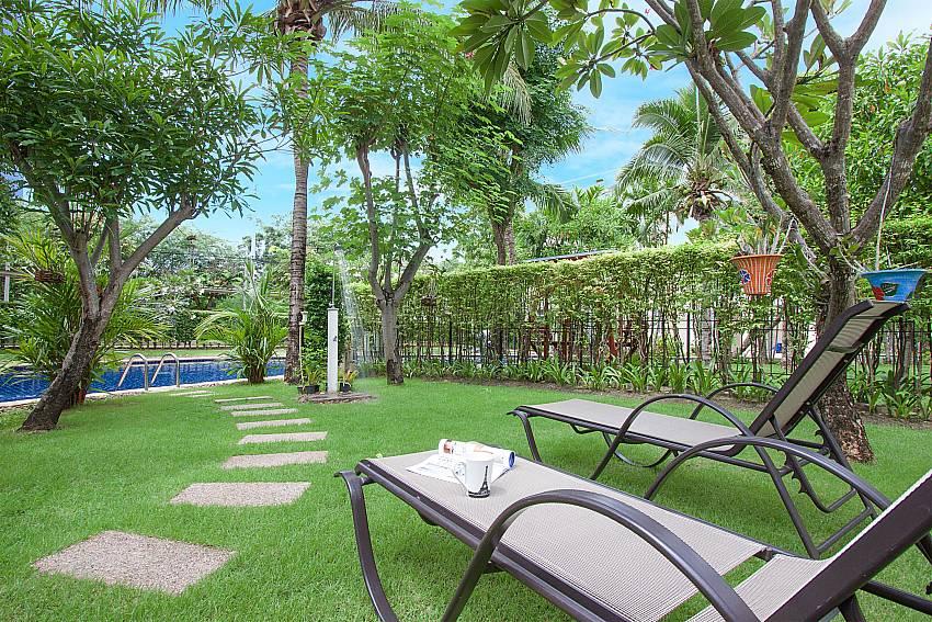 Sun bed in garden Blue Lagoon Hua Hin 301 in Hua Hin