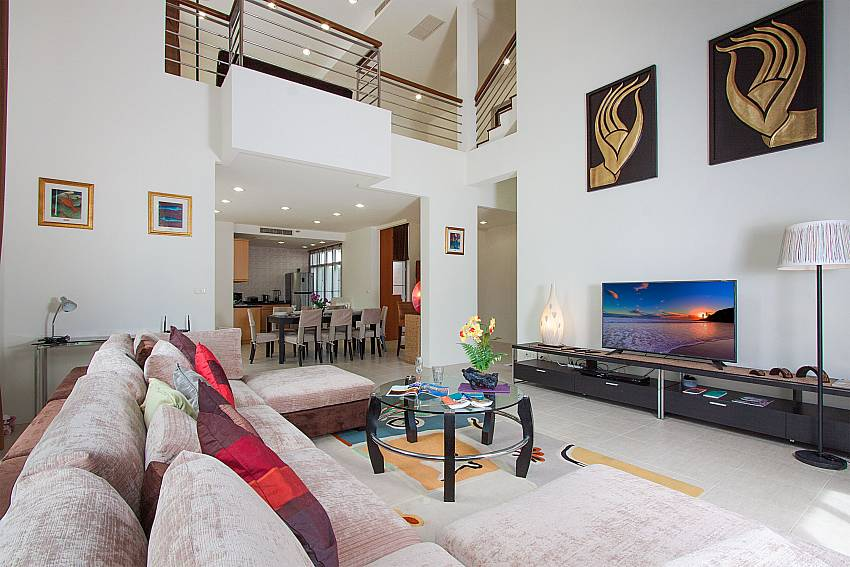 Living room with TV Blue Lagoon Hua Hin 301 in Hua Hin