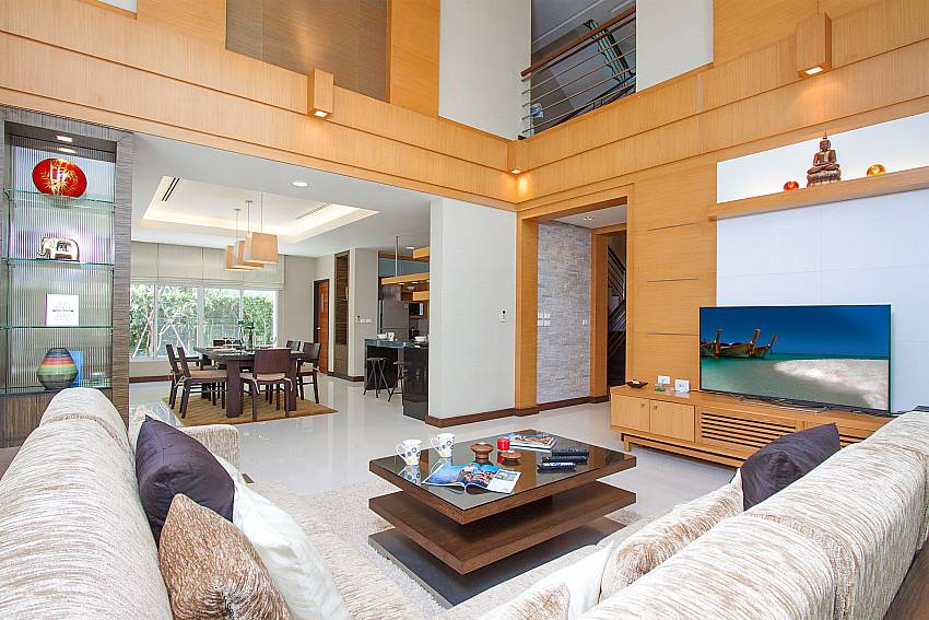 Living room with TV shower Blue Lagoon Hua Hin 401 in Hua Hin