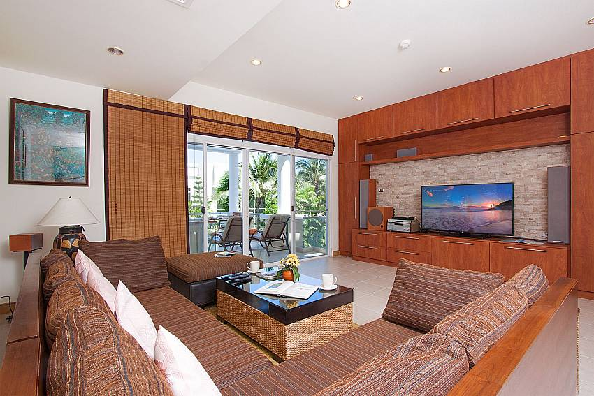 Living room with TV Blue Lagoon Hua Hin 201 in Hua Hin
