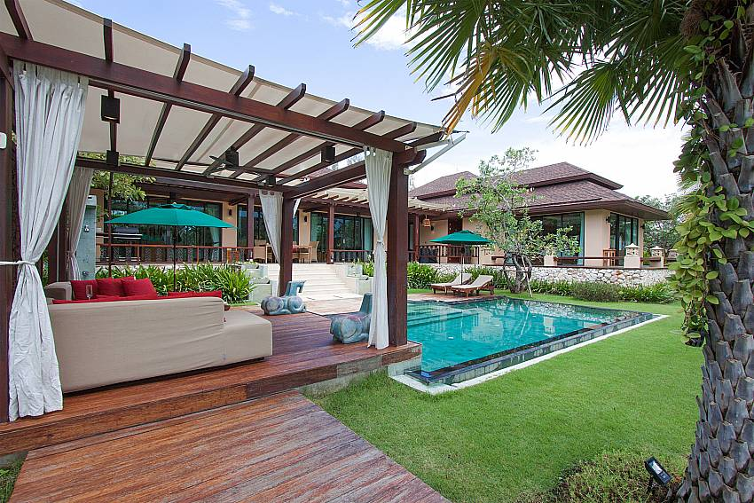 Pavilion near swimming pool Villa Qualitas in Hua Hin