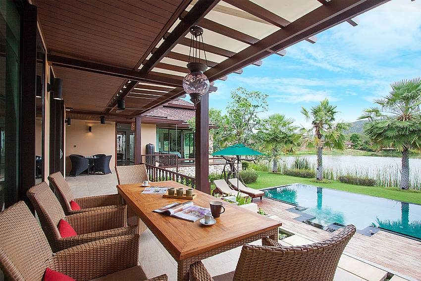 Seat and table Villa Qualitas in Hua Hin