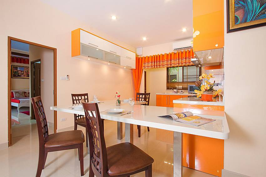 Dining area close to the kitchen Thammachat Victoria II_Pattaya_Thailand