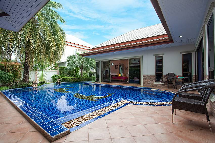 direct access from inside to the pool area-Thammachat Madonna Villa_Pattaya_Thailand