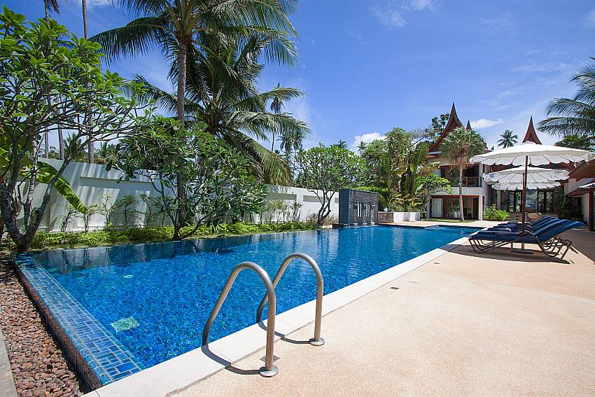 pool surrounded by tropical garden-Villa Alkira_Lipa Noi_Samui_Thailand