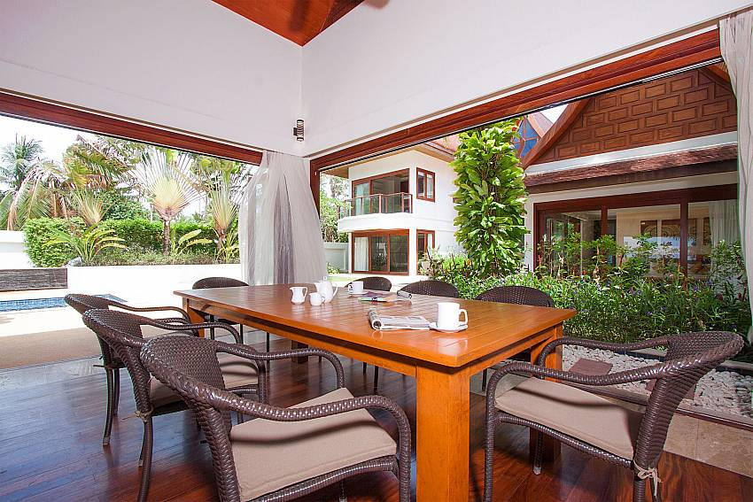 Open dining area with pool view-Villa Alkira_Lipa Noi_Samui_Thailand
