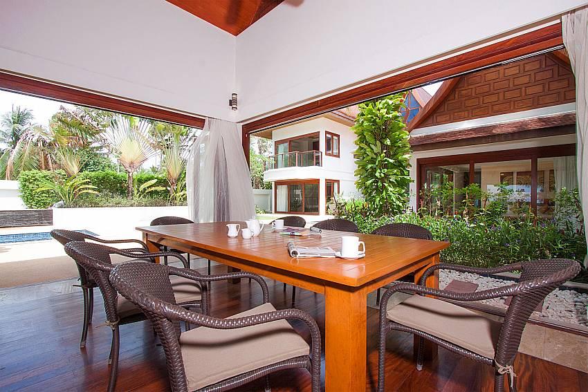 Open dining area with pool view-Villa Alkira_Lipa Noi_Samui_Thailand