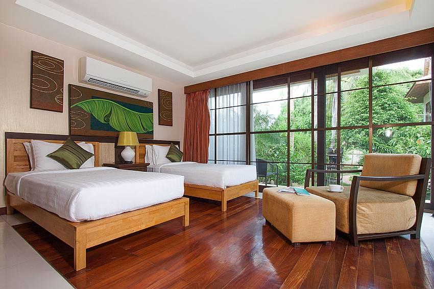 4. bedroom with single beds-Villa Alkira_Lipa Noi_Samui_Thailand at