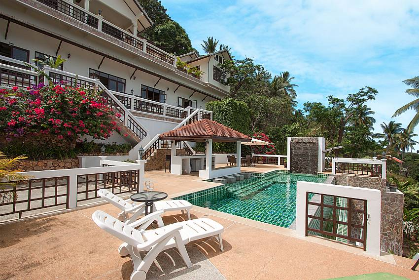Big pool area at-Villa Werona_Bang Por_Samui_Thailand