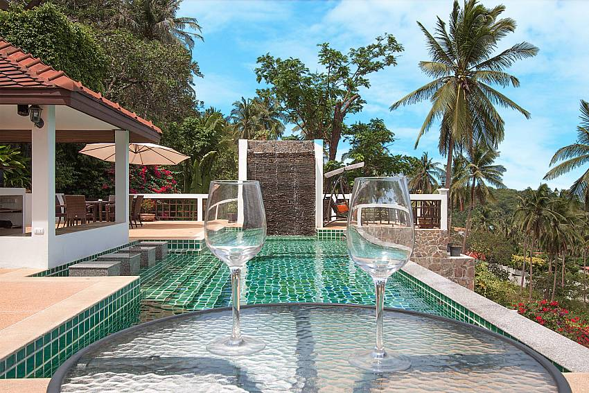 unwind at the pool of-Villa Werona_Bang Por_Samui_Thailand
