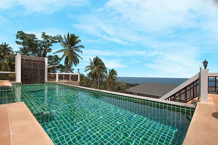 refreshing big pool with sea view-Villa Werona_Bang Por_Samui_Thailand