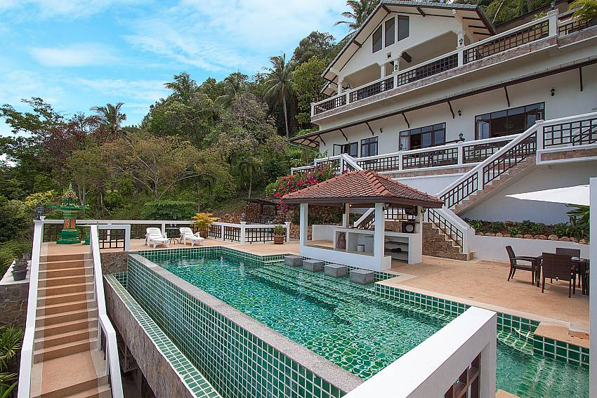 Refreshing pool at-Villa Werona_Bang Por_Samui_Thailand