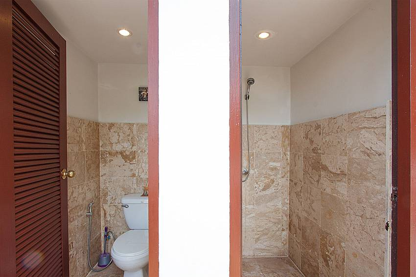 Toilet and shower by the pool-Villa Werona_Bang Por_Samui_Thailand