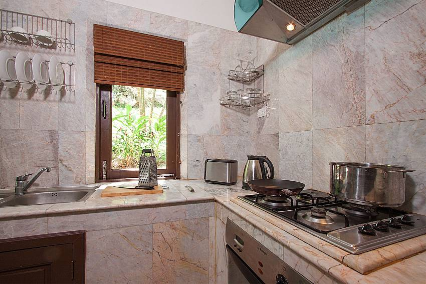 modern kitchen of-Villa Werona_Bang Por_Samui_Thailand