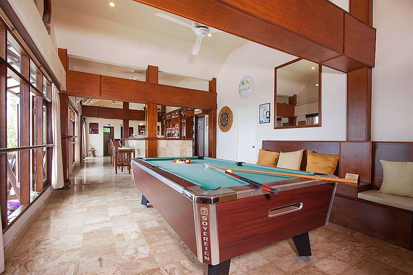 Pool table in--Villa Werona_Bang Por_Samui_Thailand