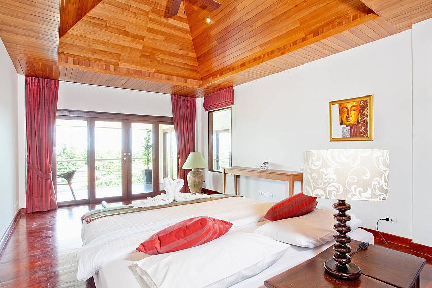 Upstairs Bedroom 2 with Balcony-Ocean Breeze_5 Bedroom Villa_Private Pools_Rawai_Phuket_Thailand