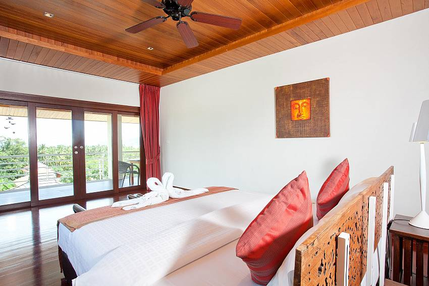 Upstairs Bedroom 3 with Balcony-Ocean Breeze_5 Bedroom Villa_Private Pools_Rawai_Phuket_Thailand