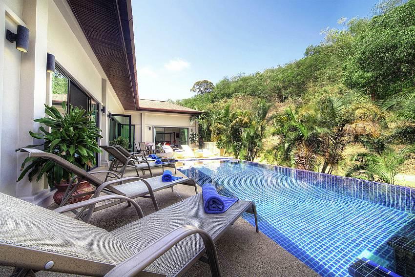 Jungle view and infitity pool-Villa Gaew Jiranai_4 Bedroom_ Family Villa_Private Pool_Nai Narn_Rawai_Phuket_Thailand