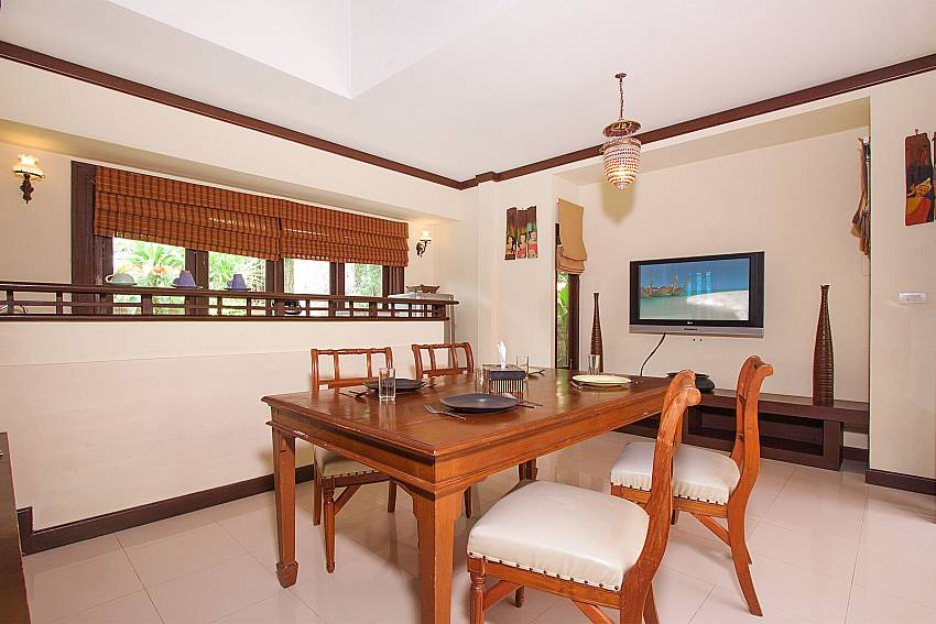 Dinning area with TV Villa Baylea 202 in Koh Samui