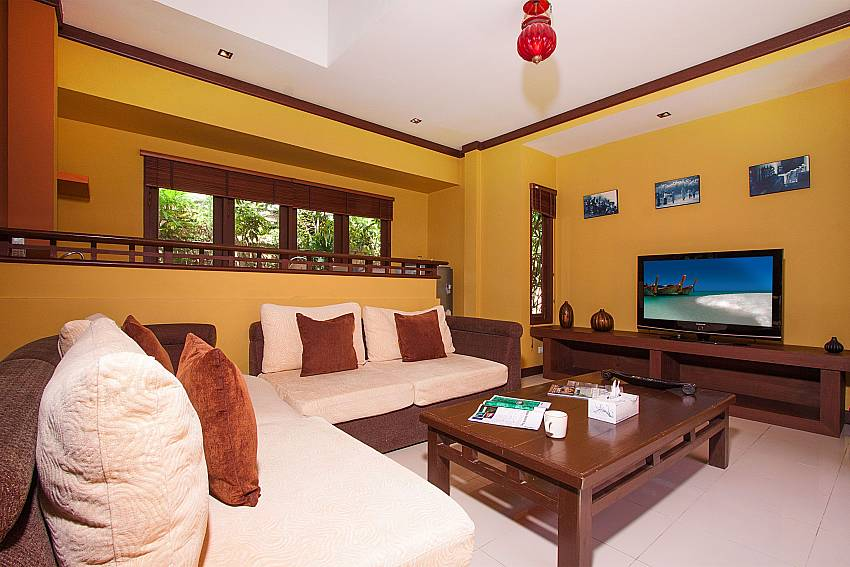Living room with TV Villa Baylea 203 in Koh Samui