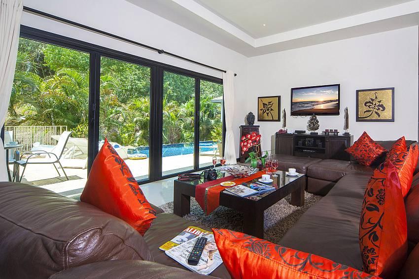 Living room with pastoral views-Villa Gaew Jiranai_4 Bedroom_ Family Villa_Private Pool_Nai Narn_Rawai_Phuket_Thailand